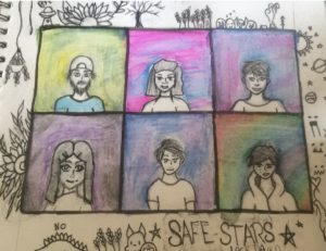 Safe Stars Zoom Meeting Art Work - Produced by Safe Stars group member